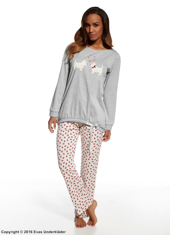 Pyjamas med söta hundar 909e548087c6d